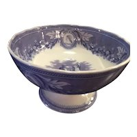Transfer Ware Pedestal Bowl From England
