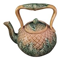 Majolica Teapot In Pineapple Pattern From England