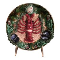Vintage Lobster Plate In The Palissy Style