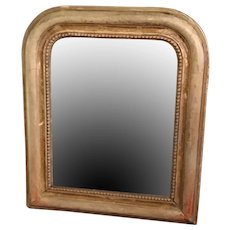 Gold Louis Philippe Mirror In Unusual Small Size
