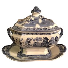 Blue Willow Tureen With Matching Platter