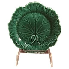 Wedgewood Majolica Cabbage Leaf Plate
