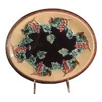 Majolica English Bread Plate Circa 1880
