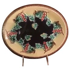 Majolica English Bread Plate Circa 1880