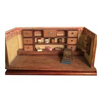 Doll's Store Or Diorama From The Early 1900's