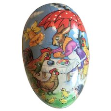 Vintage German Paper Mache Easter Egg
