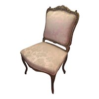 French Chair With A Satin Brocade