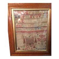Alphabet Sampler On Linen By Twelve Year Old Girl In 1849