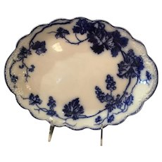 Warwick Flow Blue Platter By Johnson Bros Of England