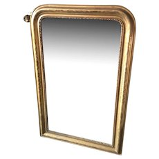French Louis Philippe Mirror In Gilt Dated 1880