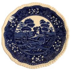 Copeland Spode Tower Plate In Blue And White With Raised Edge