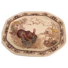 Barnyard King Turkey Platter By Johnson Brothers Of England