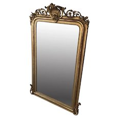 Crested Mirror In The Louis Philippe Style