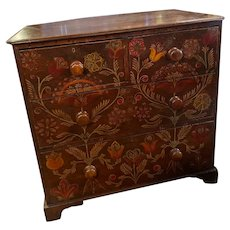 Painted Antique Chest From England