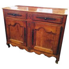Antique French Cherry Buffet From 1830