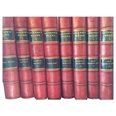 Charles Dickens's Set Of Thirty-Two Leather Bound Books From The 1800's