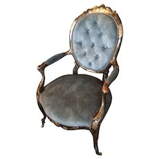 Antique Chinoiserie Chair From France