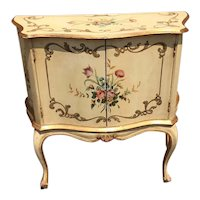 French Painted Console With Floral Design