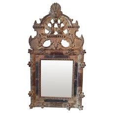 French Gilded Mirror Sometimes Called A Bridal Mirror