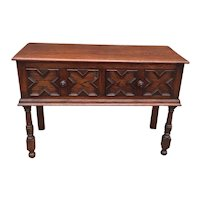 Carved Oak Buffet From England