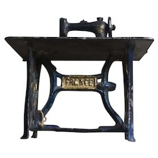 French MiniatureSewing Machine With Sewing Table