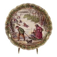 Victorian Christmas Plate Series From Spode:  Sleighing