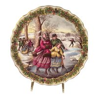 Spode Skaters From The Victorian Series