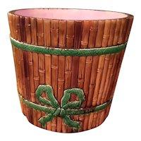 Majolica Jardiniere Bamboo Planter