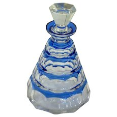 Val St Lambert Cobalt Cut-to-Clear Decanter Charles Graffart
