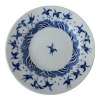 Antique Minton Aesthetic Transferware Japanese Crane Blue & White Plate Christopher Dresser