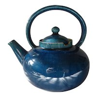 Christopher Dresser Linthorpe Pottery Turquoise Teapot 19C Antique Rare