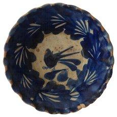 Antique Spanish Colonial Mexico Talavera Poblana Blue & White Bowl 17th Century Stunning v. Scarce