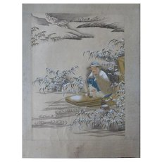 Vintage Chinese Watercolor Painting Album Gongbi  8 Images 画册工笔 Signed Seals