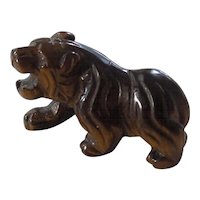 Vintage Chinese Tiger's Eye Tiger Figurine
