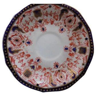 6 Antique Royal Crown Derby Saucers 1891 Rare Pattern