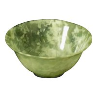 Vintage Carved Chinese Jade Bowl