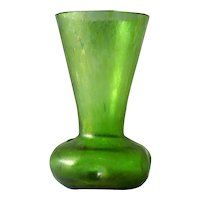 Green Oil Spot Art Glass Vase