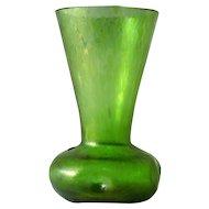 Green Oil Spot Art Glass Vase