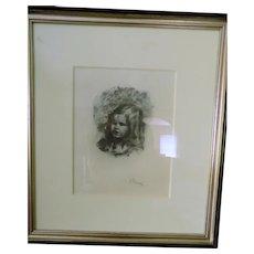 Pierre August Renoir Lithograph Claude Renoir