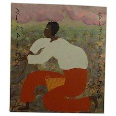 American Folk Art Painting Simpkins Berry Picker