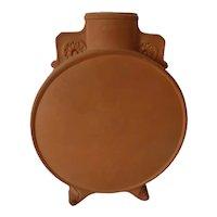 Watcombe Pottery Torquay England Terracotta Pilgrim Flask Christoper Dresser Style