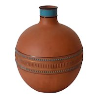 Watcombe Pottery Torquay England Terracotta Bottle Christoper Dresser Style