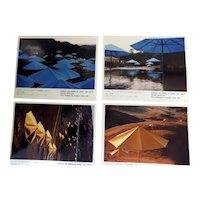 Christo 1991 Umbrellas Project Pre-release Pack 4 Volz Photos + Info  Very Scarce