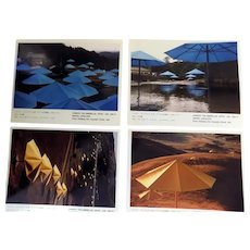 Christo 1991 Umbrellas Project Pre-release Pack 4 Volz Photos + Info  Very Scarce