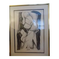 Nellie Buel Texas Artist LIthograph Signed A/P