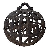 Antique Cast Iron Birdcage Chinoiserie 18th Century
