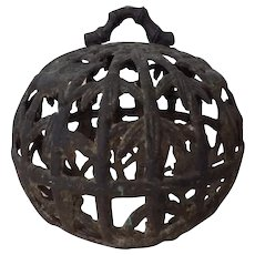 Antique Cast Iron Birdcage Chinoiserie 18th Century