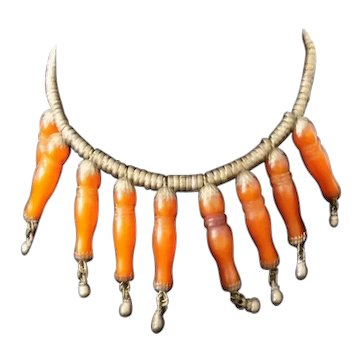 Ethnic Amber & Metal Bead Necklace