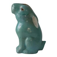 Antique Chinese Rabbit Hare Figurine Turquoise Glaze
