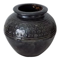 Antique Chinese Black Glazed Large Jar Zibo Fushan 山东淄博